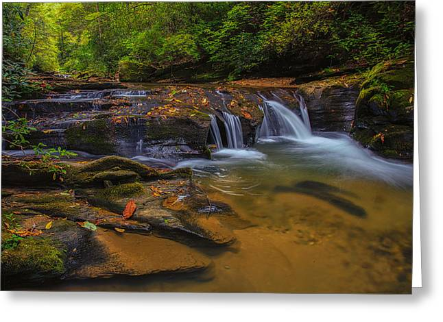 North Carolina Cascade Greeting Card
