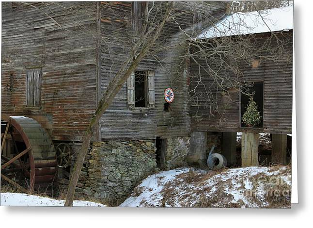 North Carolina Grist Mill Greeting Card by Benanne Stiens