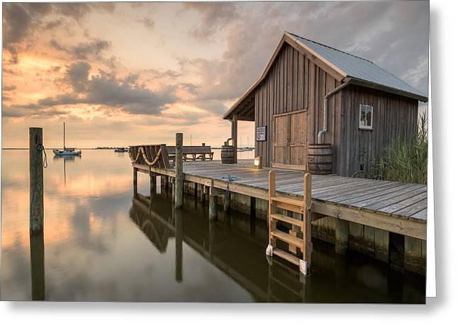 North Carolina Manteo Historic Fisherman's Net House Greeting Card by Mark VanDyke