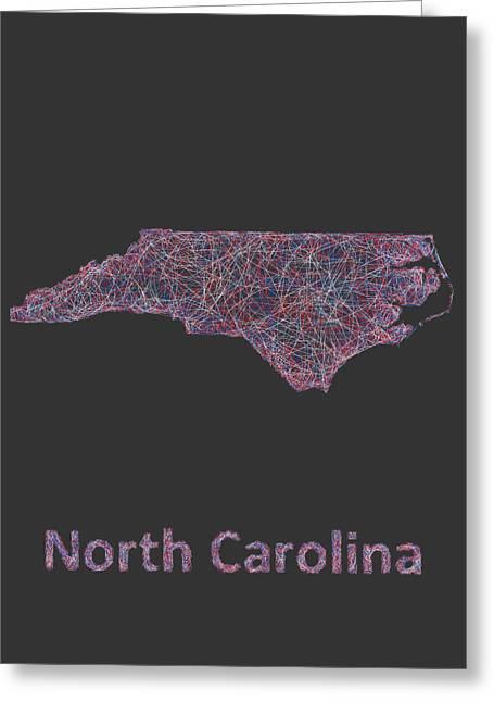 North Carolina Map Greeting Card