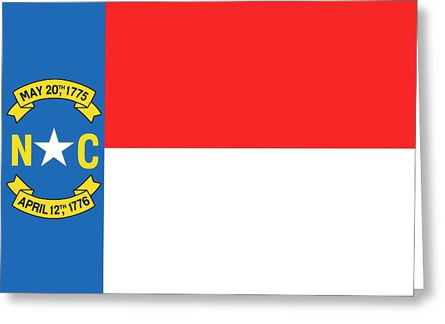 North Carolina State Flag Greeting Card by American School