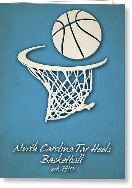 North Carolina Tar Heels Basketball Greeting Card