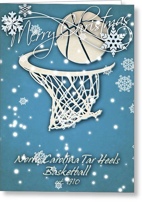 North Carolina Tar Heels Christmas Card 2 Greeting Card