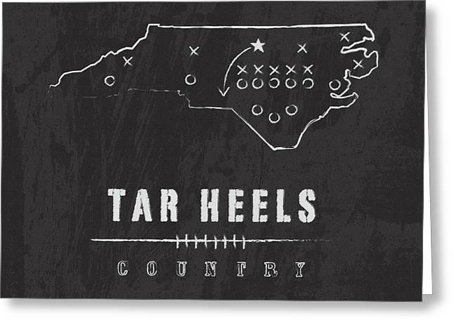 North Carolina Tar Heels Country Greeting Card