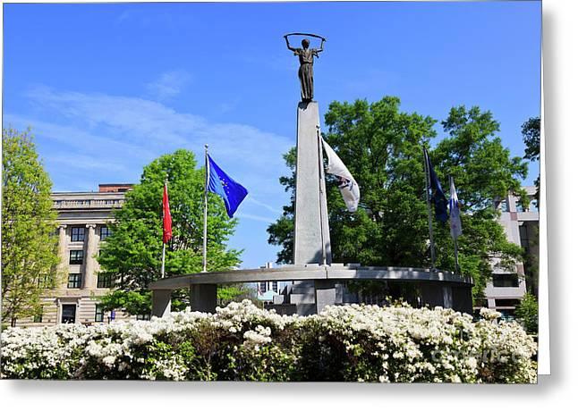 North Carolina Veterans Monument Greeting Card
