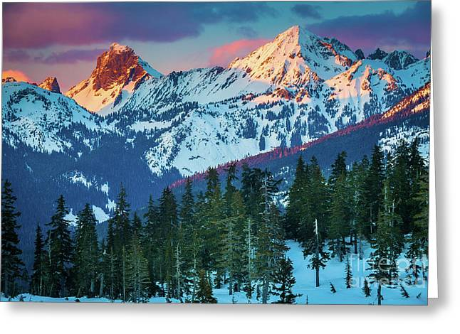 North Cascades Sunset Greeting Card by Inge Johnsson