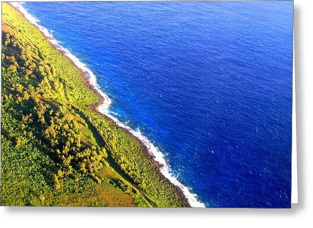 North Coast Of Tinian At Sunrise Greeting Card