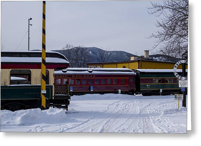 North Conway Nh Scenic Railroad Greeting Card by Toby McGuire