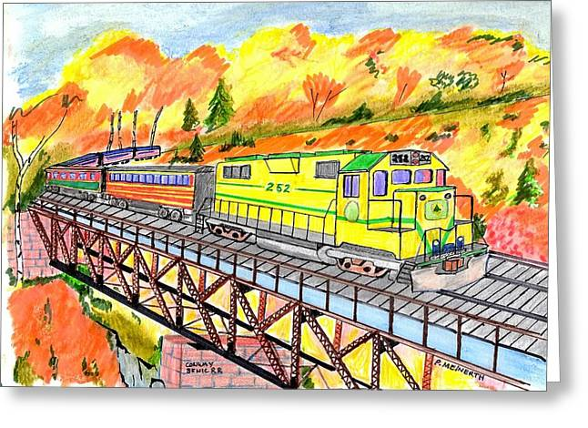 North Conway Scenic Railway Greeting Card