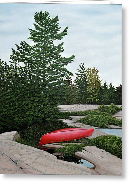 North Country Canoe Greeting Card by Kenneth M  Kirsch