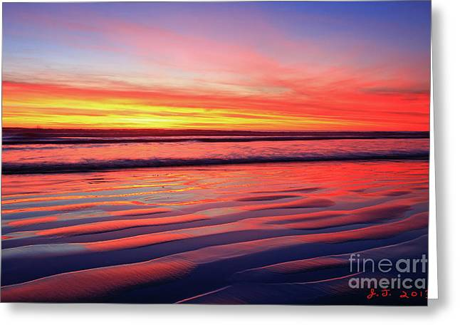 Oceanside Sand Ripples Greeting Card