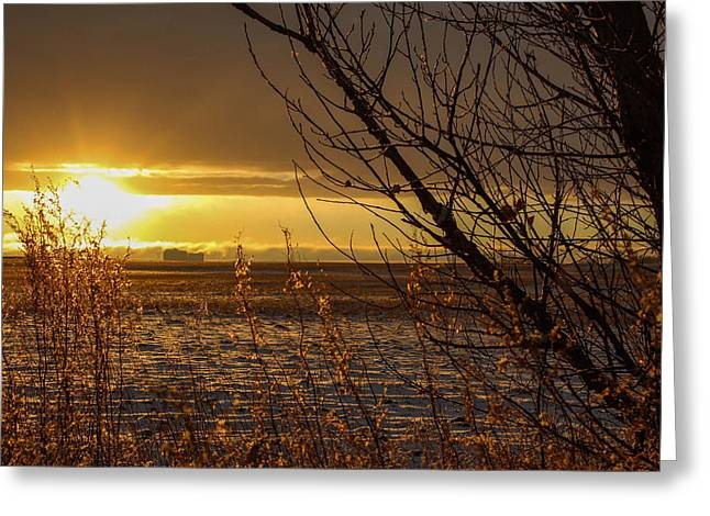 North Dakota Sunset Greeting Card