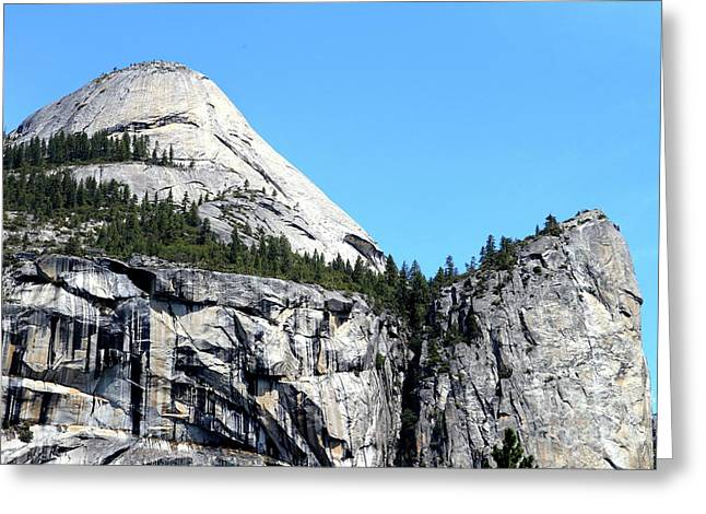North Dome At Yosemite . 7d6255 Greeting Card by Wingsdomain Art and Photography
