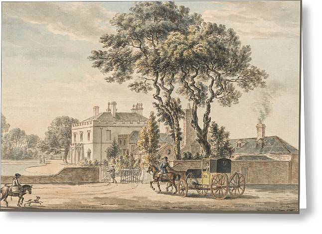 North-east View Of Sir John Elvil's House On Englefield Green Near Egham In Surrey Greeting Card