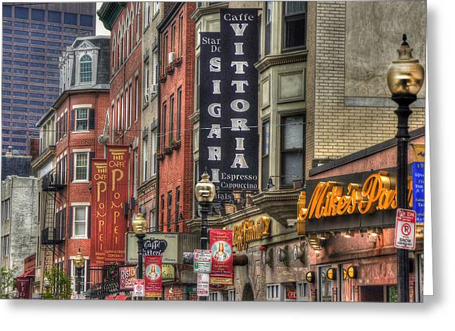 North End Charm 11x14 Greeting Card by Joann Vitali