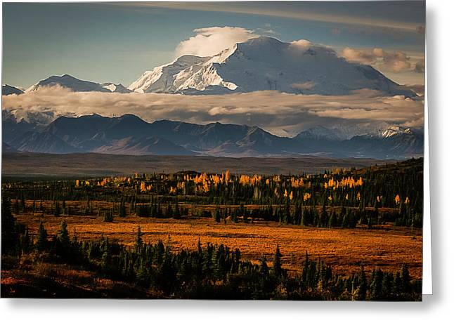 North Face Of Denali Greeting Card