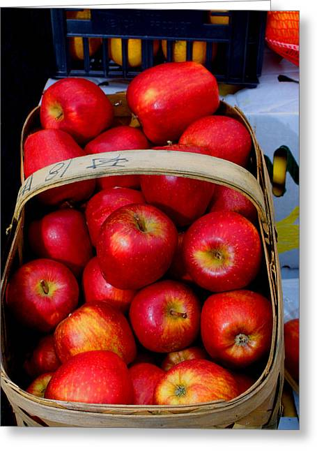 North Ga. Apples Greeting Card by Ralph  Perdomo