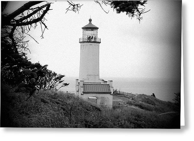 North Head Lighthouse Bw Greeting Card by Mg Blackstock