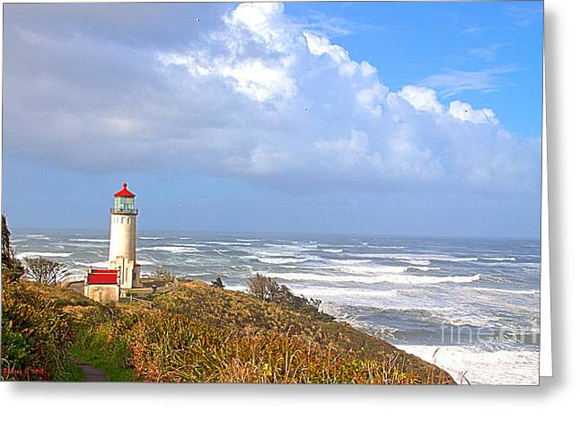 North Head Lighthouse Greeting Card by Larry Keahey