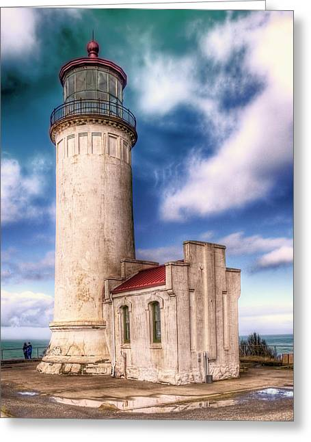 North Head Lighthouse - Washington Coast Greeting Card by Greg Sigrist