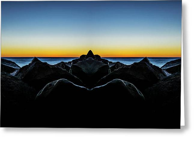 North Jetty 3 Reflection Greeting Card by Pelo Blanco Photo