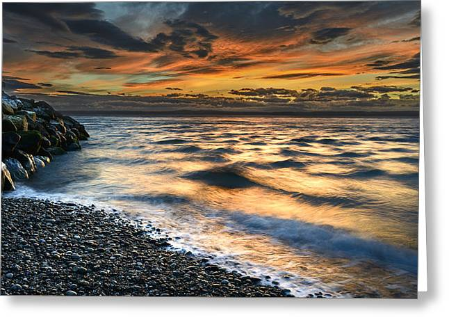 North Jetty Sunset Greeting Card