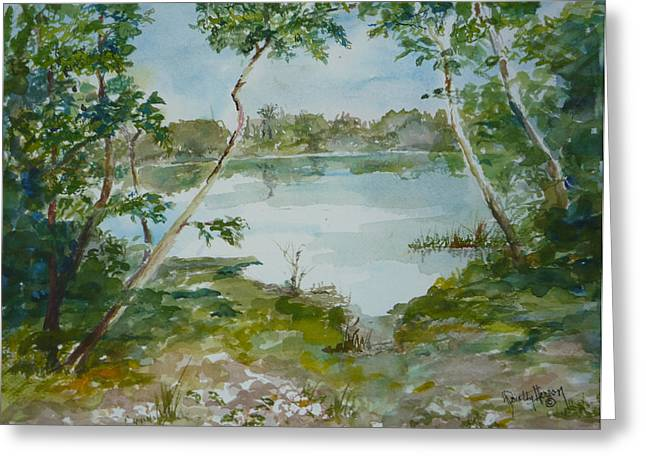 North Lake Greeting Card by Dorothy Herron