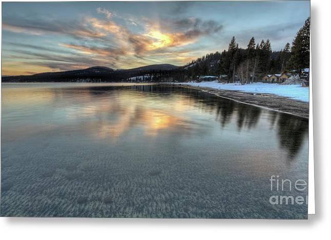 North Lake Tahoe Spring Sunset Greeting Card