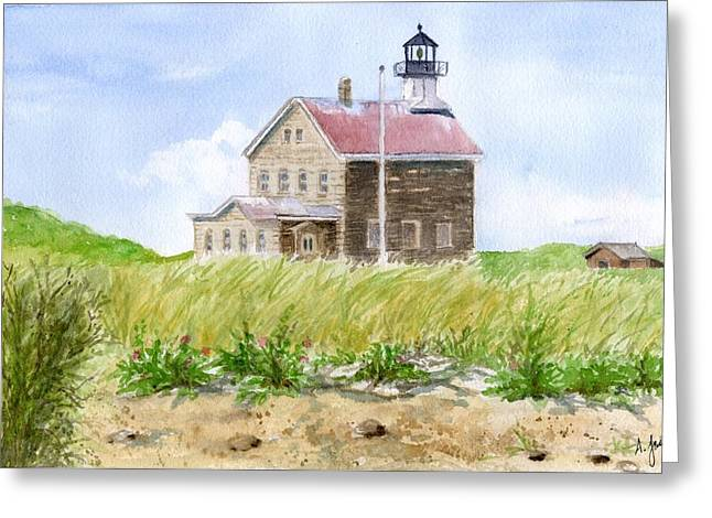 North Light - Block Island Greeting Card
