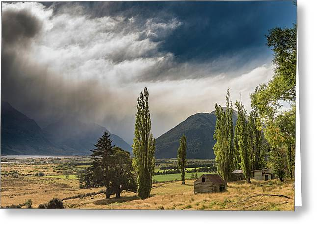 Greeting Card featuring the photograph North Of Glenorchy by Gary Eason