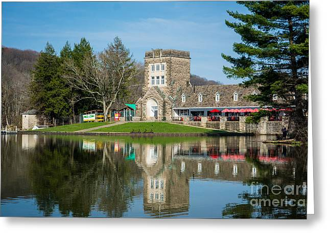 North Park Boat House Pittsburgh Pennsylvania Greeting Card by Amy Cicconi