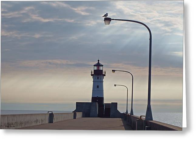 North Pier Rays Greeting Card