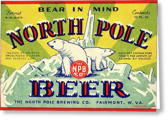 North Pole Beer Greeting Card