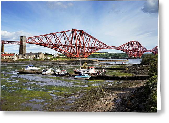 Greeting Card featuring the photograph North Queensferry by Jeremy Lavender Photography
