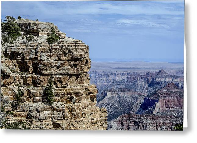 North Rim Layers Of Time Greeting Card