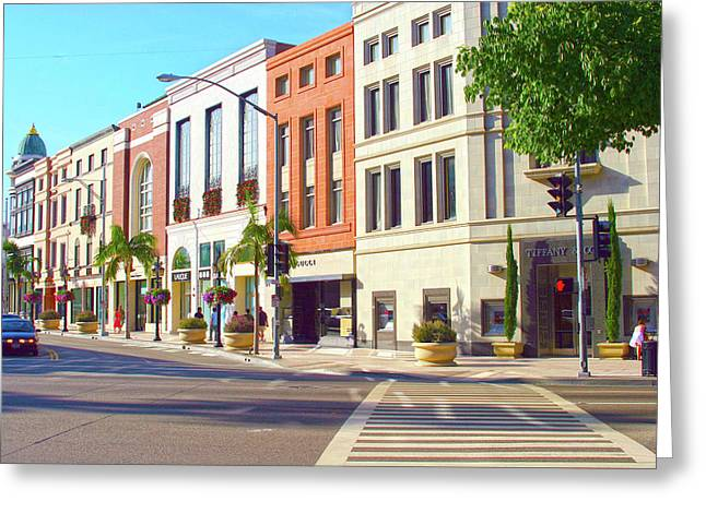 North Rodeo Drive Greeting Card