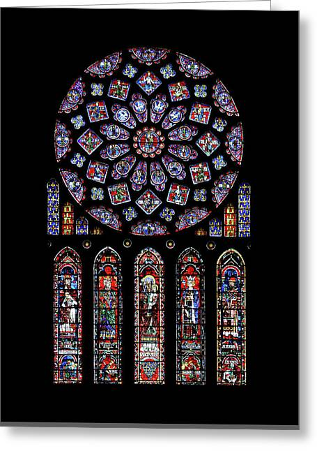 North Rose Window Of Chartres Cathedral Greeting Card