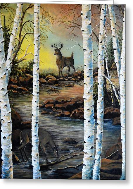 North Shore Hidden Creek Two Greeting Card by Kimberly Benedict