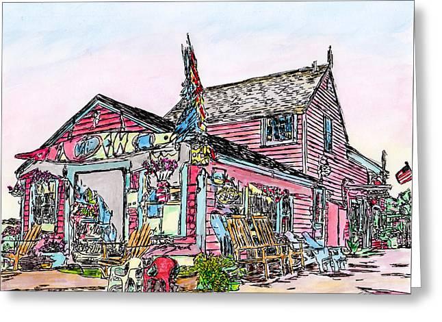 North Shore Kayak Shop, Rockport Massachusetts Greeting Card