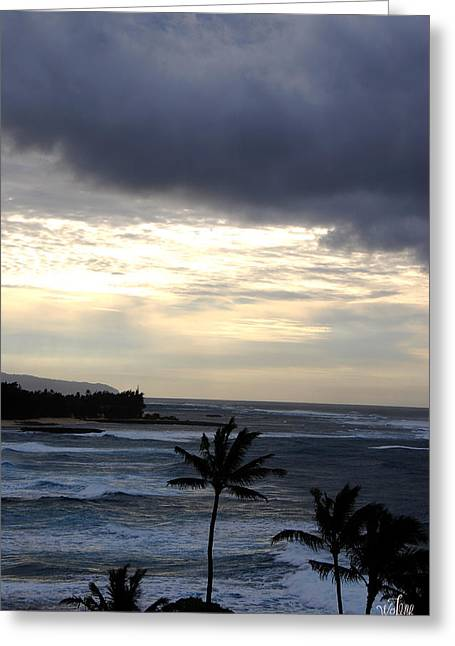 North Shore Morning Greeting Card by Thea Wolff