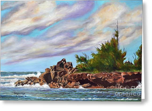 North Shore Oahu Greeting Card