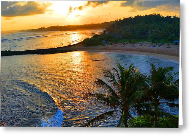 North Shore Of Oahu  Greeting Card