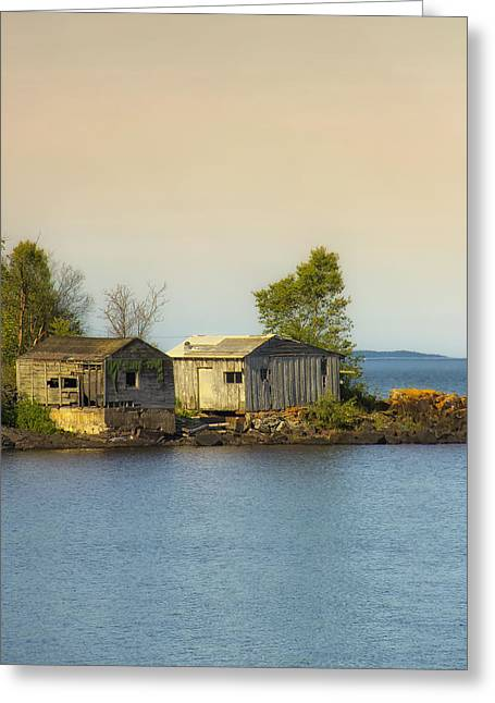North Shore Old Buildings Greeting Card by Bill Tiepelman