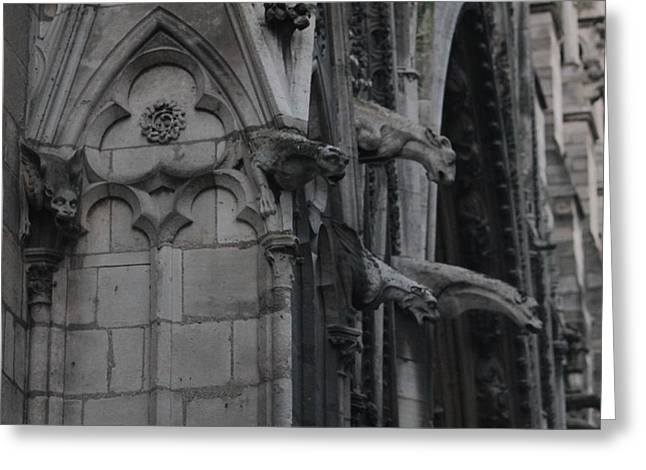 Greeting Card featuring the photograph North Side Notre Dame Cathedral by Christopher Kirby