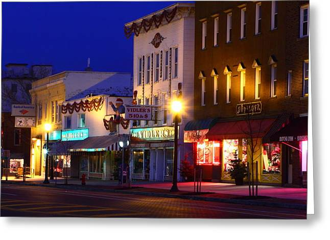 North Side Of East End Of Main Street Greeting Card by Don Nieman