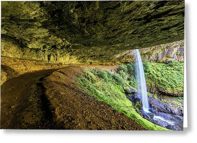 North Silver Falls Oregon Greeting Card by Pierre Leclerc Photography