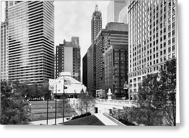 North State Street Greeting Card by Peter Chilelli