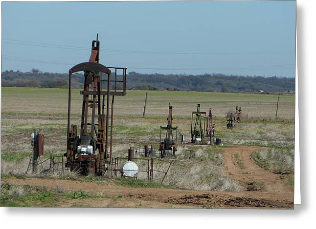 North Texas Shallow Oil Field Greeting Card