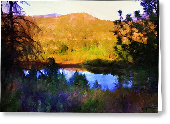 North Thompson River Greeting Card by Dwayne Jensen
