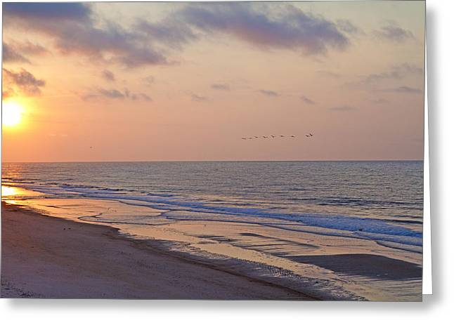 Vacant Greeting Cards - North Topsail Beach Glory Greeting Card by Betsy C  Knapp